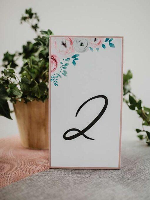 Numery stołów eustoma