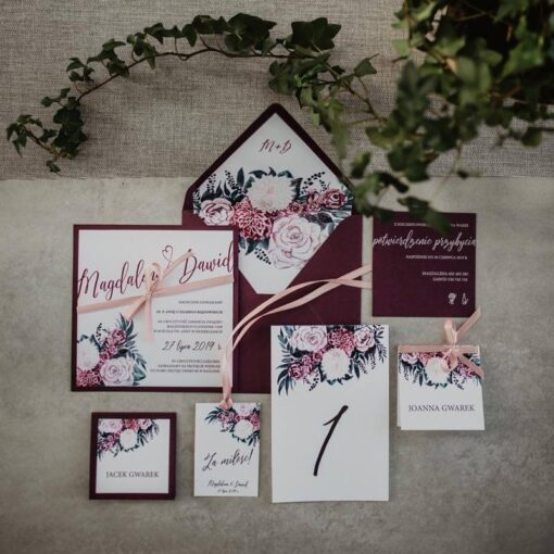 Zaproszenia ślubne dalia