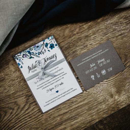 Zaproszenia ślubne navy blue