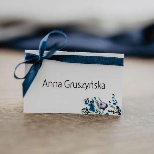 Winietka ślubna navy blue