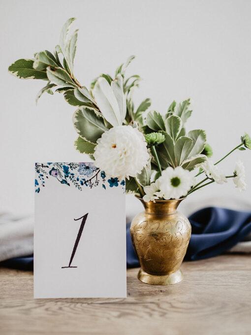 Numery stołów navy blue