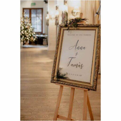 Naklejki ślubne na tablicę powitalną