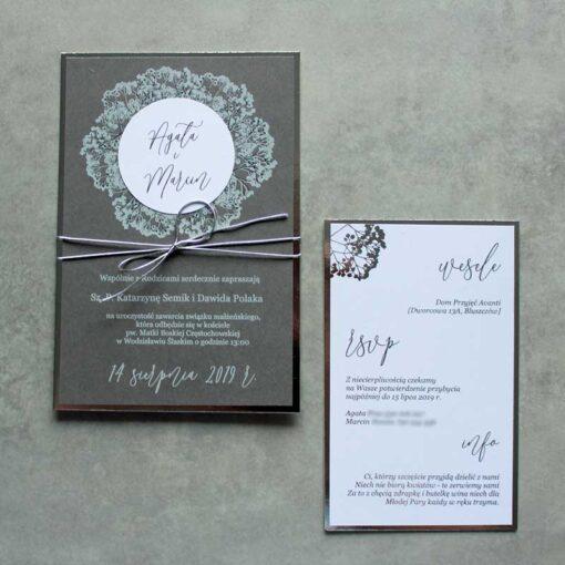 Zaproszenia ślubne gipsówka