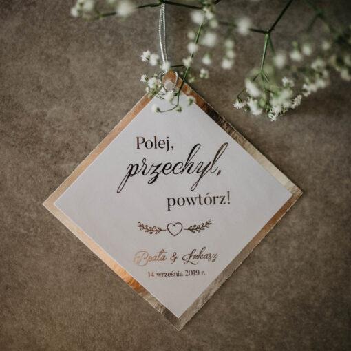 zawieszki ślubne srebrny folder