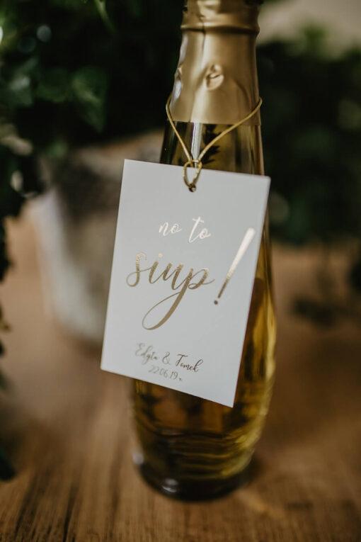 Zawieszki ślubne proste złotko