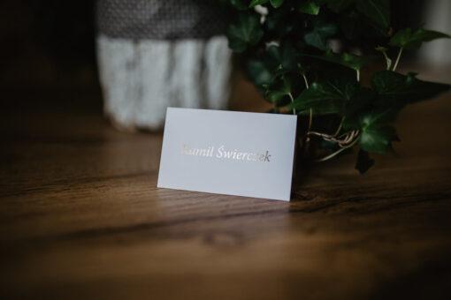 Winietka ślubna proste złotko