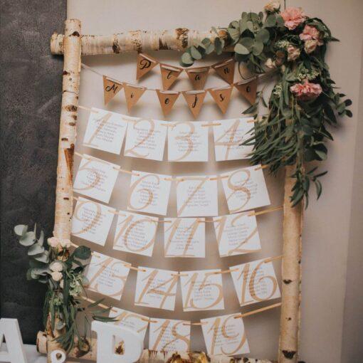 plany stołów na wesele