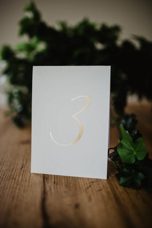 Numery stołów proste złotko