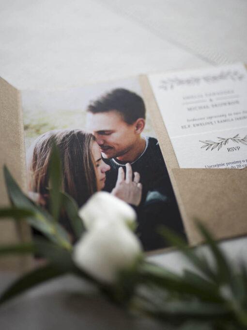 Zaproszenia ślubne eco ze zdjęciem