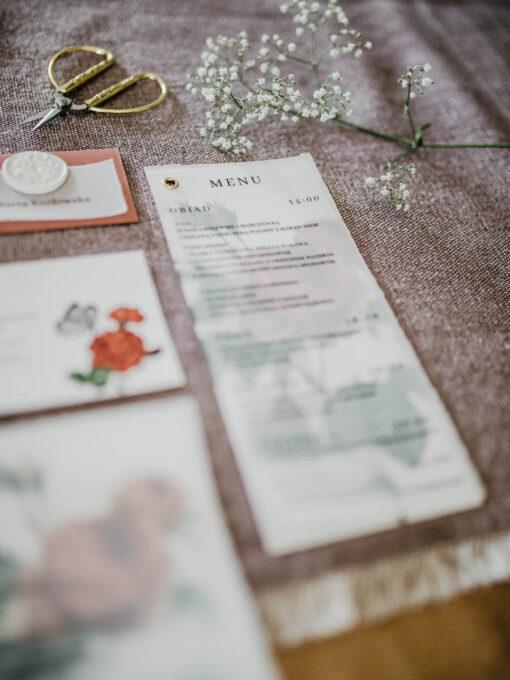menu weselne z różą