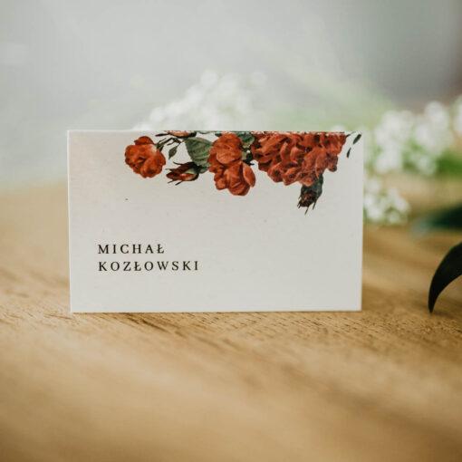 winietka ślubna z różą