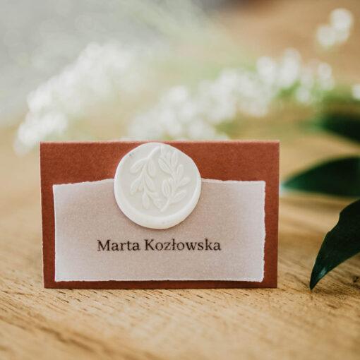 winietki na wesele róża kalka