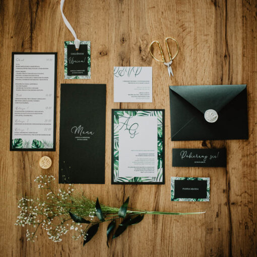 Zaproszenia na ślub jungle