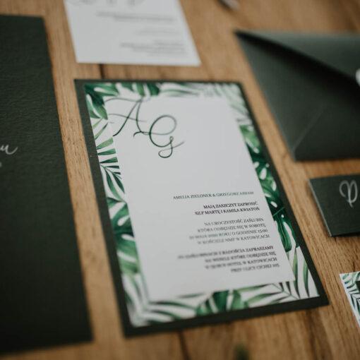 zaproszenie ślubne jungle