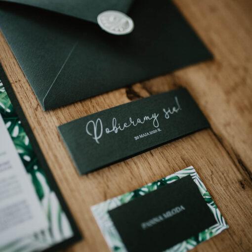 opaska na zaproszenie ślubne
