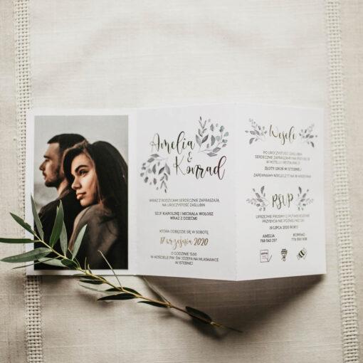 zaproszenie ślubne harmonika ze zdjęciem