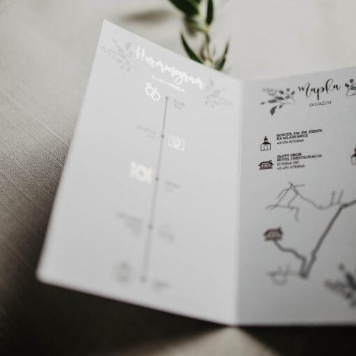 harmonogram ślubny zaproszenie