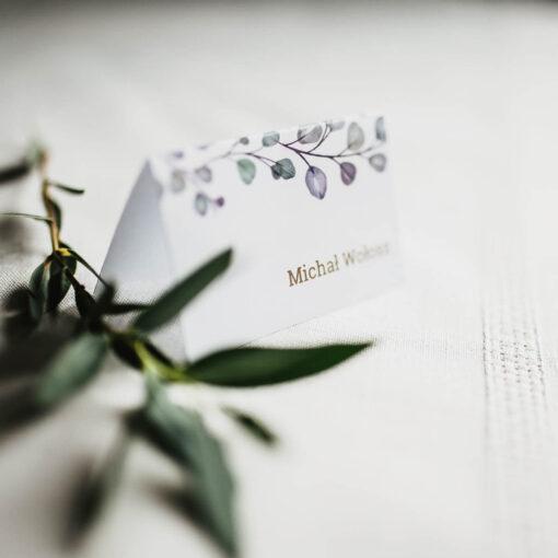 winietka ślubna z eukaliptusem