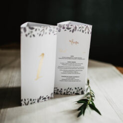 numerek stołu i menu w jednym
