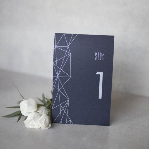 nowoczesny numerek stołu