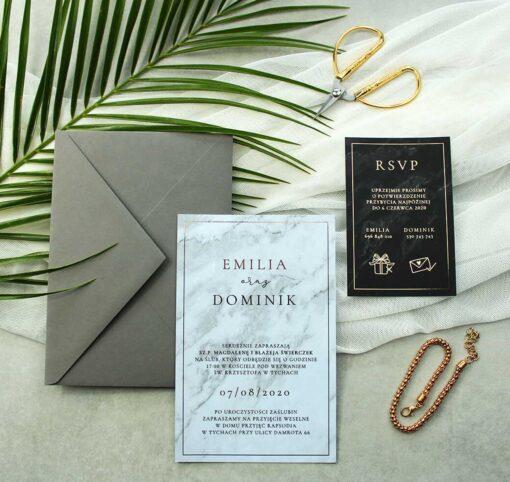 Zaproszenie ślubne w formie osobnych kart