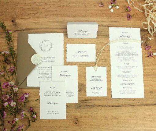 Rwane zaproszenia ślubne w stylu vintage
