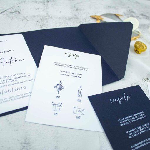 Potwierdzenie przybycia z rebusem ślubnym dla gości