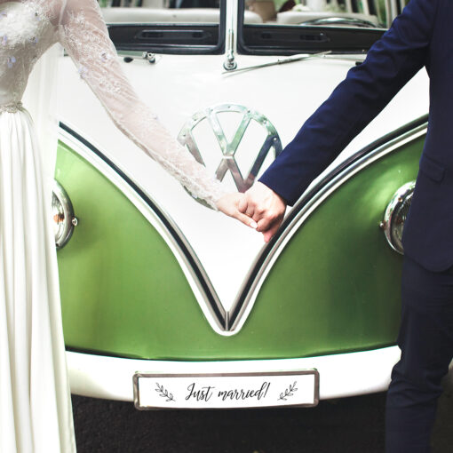 """Tablica rejestracyjna """"just married!"""""""