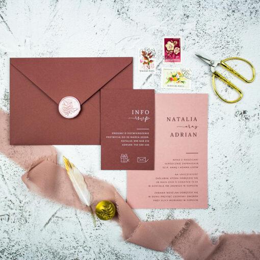 Zaproszenie ślubne w formie kart