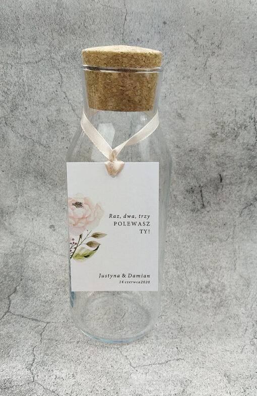 zawieszki ślubne pastelowa róża