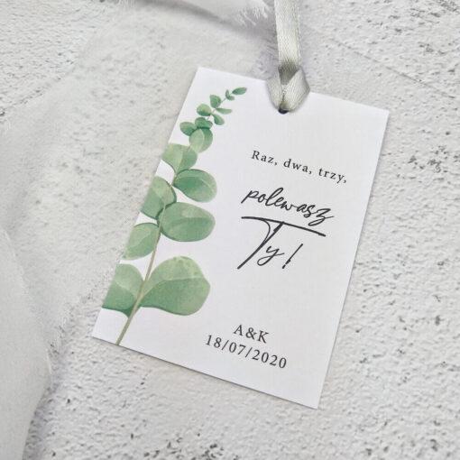 zawieszki ślubne eukaliptus
